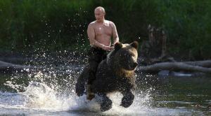 Putin rides a bear